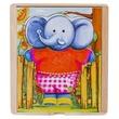 kép nagyítása Fa öltöztető elefánt 14 x12 x4 cm