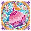 kép nagyítása 4M hercegnős ablakmozaik készlet