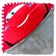 kép nagyítása Verdák Villám McQueen kapucnis plüss takaró - 100 x 100 cm